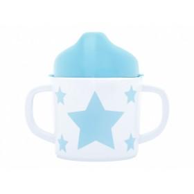 Pimpalou Zwei-Henkel-Becher STERN hellblau