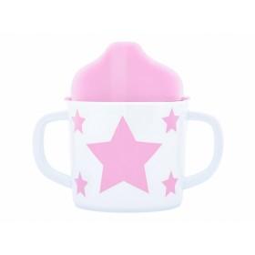 Pimpalou Zwei-Henkel-Becher STERN rosa
