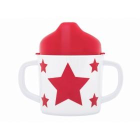 Pimpalou Zwei-Henkel-Becher STERN rot