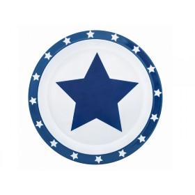 Pimpalou Anti-Rutsch Teller STERN blau