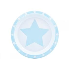 Pimpalou Anti-Rutsch Teller STERN hellblau