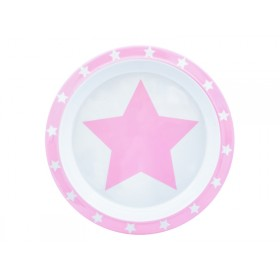 Pimpalou Anti-Rutsch Teller STERN rosa
