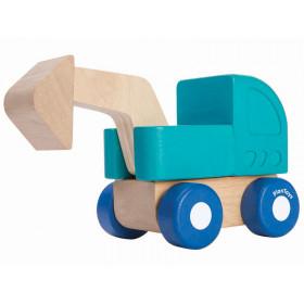 Plantoys Fahrzeug aus Holz MINI BAGGER
