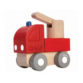 Plantoys Fahrzeug aus Holz MINI FEUERWEHRAUTO