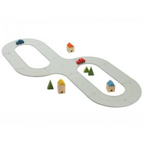 PlanToys Set Straßen & Schienen