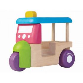 Plantoys Fahrzeug aus Holz MINI TUK TUK