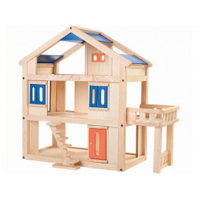 PlanToys Puppenhaus mit TERRASSE