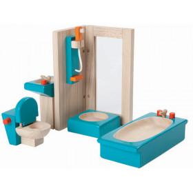PlanToys Puppenhaus Badezimmer DUSCHKABINE