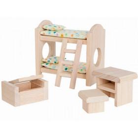 PlanToys Puppenhaus Kinderzimmer CLASSIC