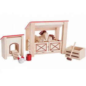 PlanToys Puppenhaus Pferdestall