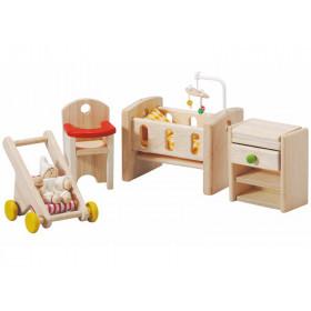 PlanToys Puppenhaus Schlafzimmer BABY