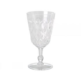 RICE Weinglas aus klarem Acryl mit Wirbelmuster