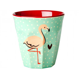 RICE Becher MINT FLAMINGO
