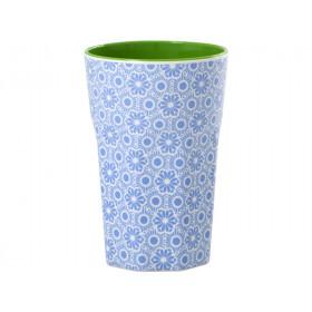 RICE Milchkaffee Becher MARRAKESCH blau
