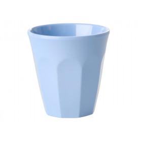 RICE Melamin Espresso Becher taubenblau
