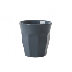 RICE Melamin Espresso Becher dunkelgrau