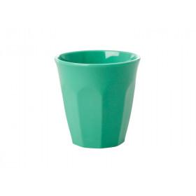 RICE Melamin Espresso Becher Smaragdgrün