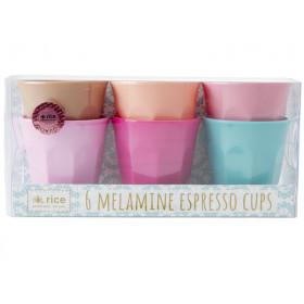 RICE Melamin Espresso Becher LBC Farben