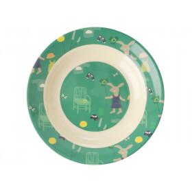 RICE Kinderschüssel BUNNY grün