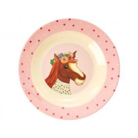 RICE Kinderschüssel BAUERNHOF rosa