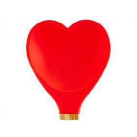 RICE Küchenspatel Herz rot