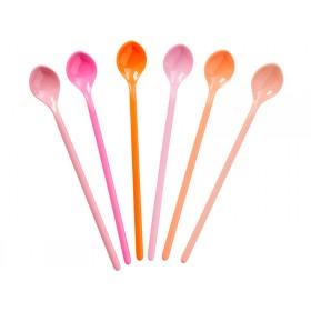Lange RICE Löffel pink und orange