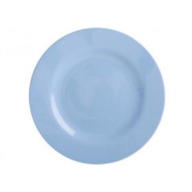 RICE Kleiner Melamin Teller taubenblau
