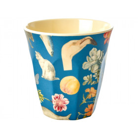 RICE Melamin Becher ART PRINT blau
