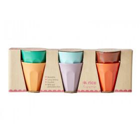 RICE 6 Melamin Espresso Becher FOLLOW THE CALL OF THE DISCO BALL