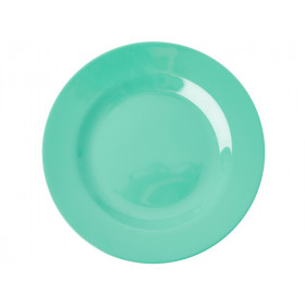 RICE Kleiner Melamin Teller smaragdgrün