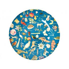 RICE Großer Melamin Teller ART PRINT blau