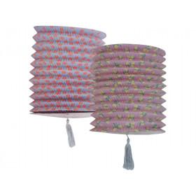 RICE Papierlaterne ZITRONEN & TUPFEN