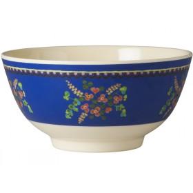 RICE Schüssel Blumen blau