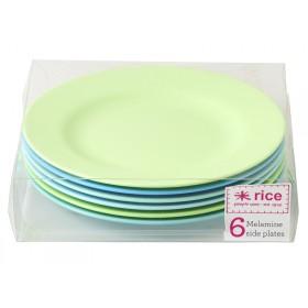 RICE Teller blaue und grüne Farben