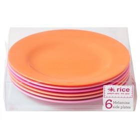 RICE Teller pinke und orangene Farben
