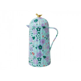 RICE Thermoskanne VOGEL Fall Floral Print mint