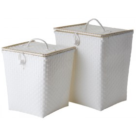 RICE Wäschekorb weiß