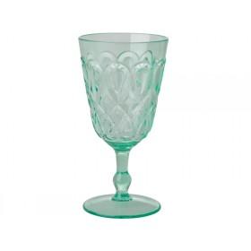 RICE Acryl-Weinglas mit WIRBELMUSTER pastellgrün