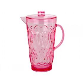 RICE Acrylkanne in rosa mit Wirbelmuster