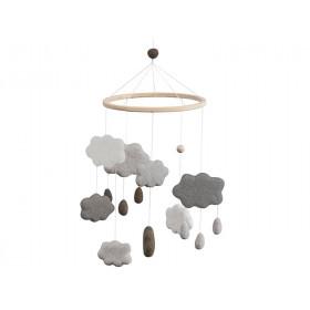 Sebra Mobile Wolken WARMGRAU