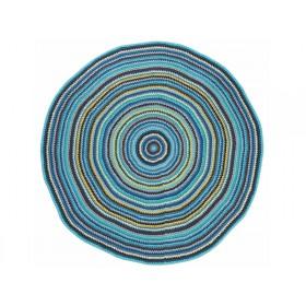 Bunter Sebra Teppich in Jungen-Farben
