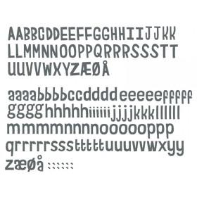 Sebra Wandsticker Buchstaben grau