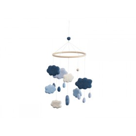 Sebra Mobile Wolken königsblau