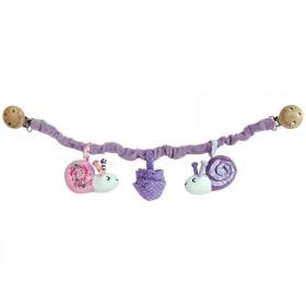 Sindibaba Kinderwagenkette Schnecke violett/rosa