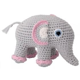 Sindibaba Stofftier mit Rassel Elefant JUMBA
