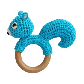 Sindibaba Rasselring Streifenhörnchen blau