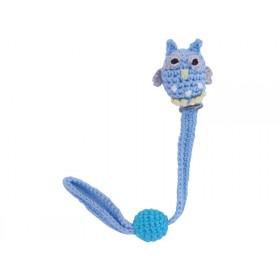 Sindibaba Schnullerhalter Eule blau