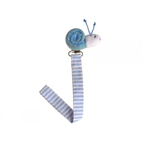 Sindibaba Schnullerhalter Schnecke blau