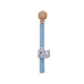 Sindibaba Schnullerhalter-Clip WAL blau