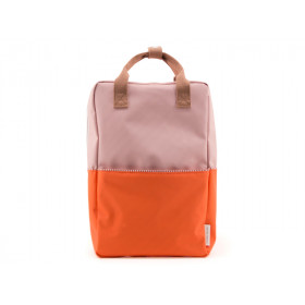 Sticky Lemon Rucksack COLOUR BLOCK L rosa-orange